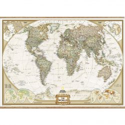 World Executive Wall Map with hangers