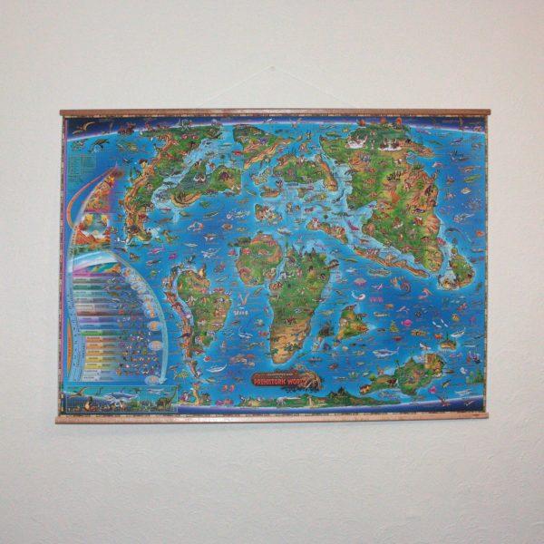 Prehistoric World Illustrated Map