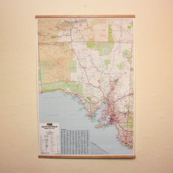 South Australia Wall Map