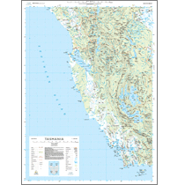 South West Tasmania Topographic Map Flat