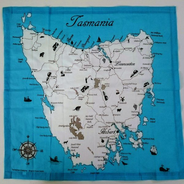 Tasmania Map Bandanna