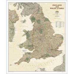 England and Wales Executive Wall Map