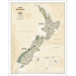 New Zealand Executive Wall Map