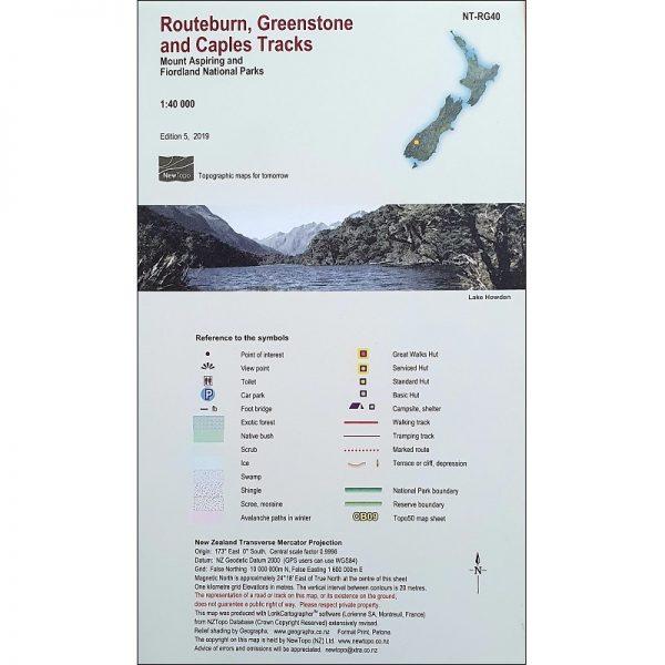 Routeburn Greenstone Caples Map