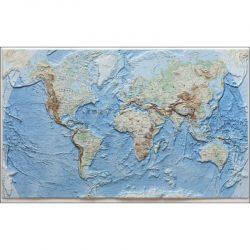 World Map 3D Raised Relief