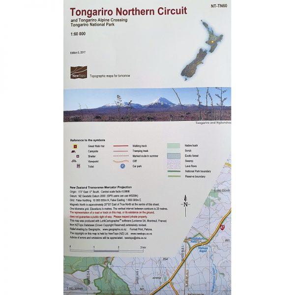 Tongariro Northern Circuit Map