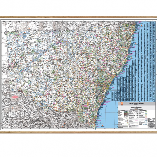 New South Wales State Map on hangers
