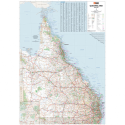 Queensland State Map, Flat - Hema