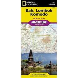 Bali Lombok and Komodo Map
