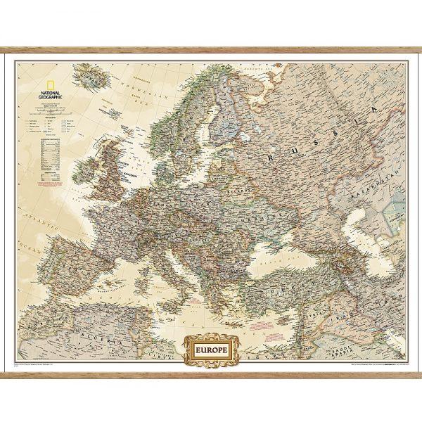 Europe Executive Wall Map