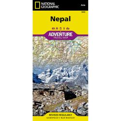 Nepal Adventure Travel Map