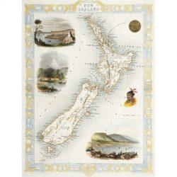 New Zealand Map Tallis