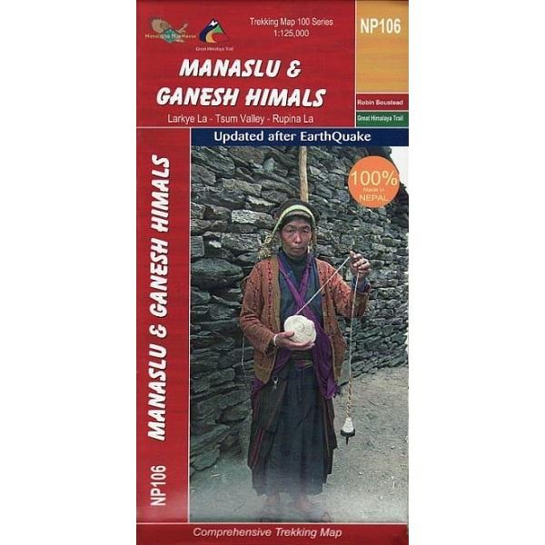 NP106 Manaslu & Ganesh Himals Trekking Map, Nepal
