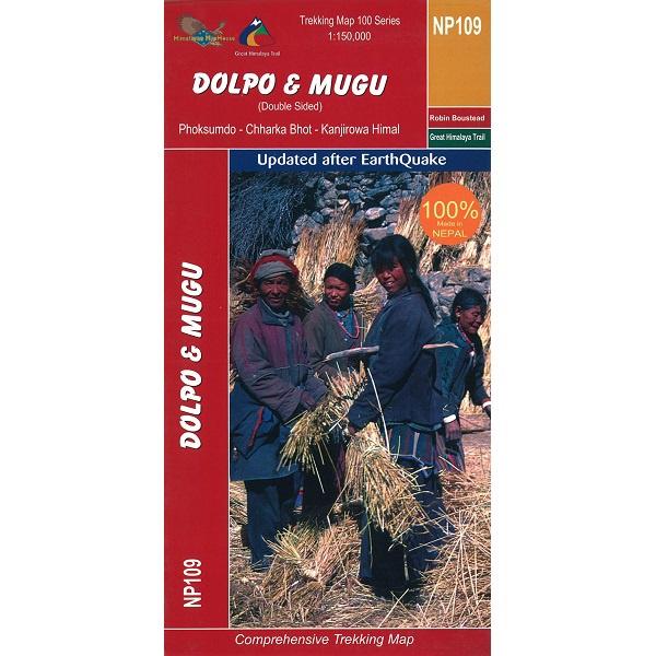 NP109 Dolpo & Mugu Trekking Map, Nepal
