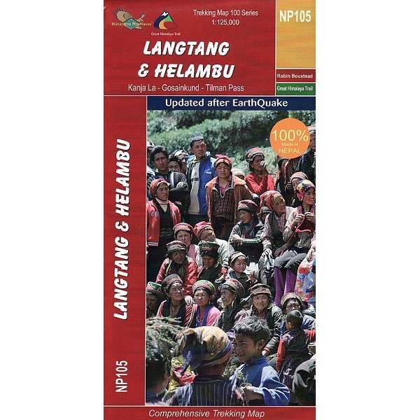 NP105 Langtang & Helambu Trekking Map, Nepal