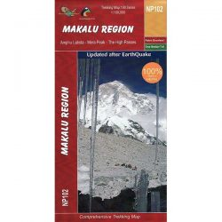 NP102 Makalu Trekking Map, Nepal
