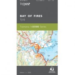Bay of Fires 1-50k Topo Map TJ10