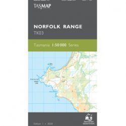 Norfolk Range 1-50k Topo Map TK03