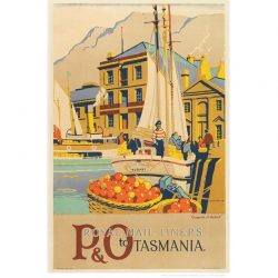 Royal Mail Liners Tasmania Vintage Travel Print
