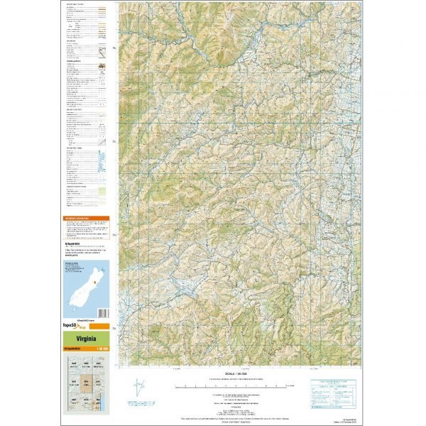 New Zealand Topographic Map