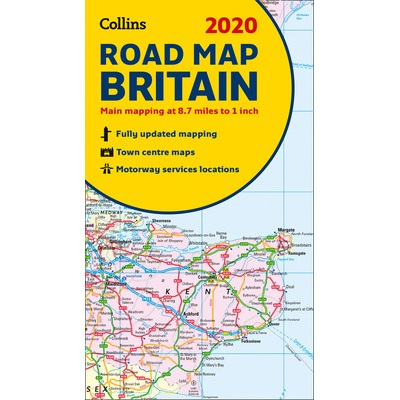 Collins Road Map Britain 2020 9780008318727