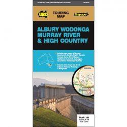 Albury Wodonga Murray River & High Country Map 381