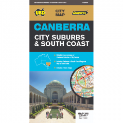 Canberra City Suburbs & South Coast Map 248 9780731931842