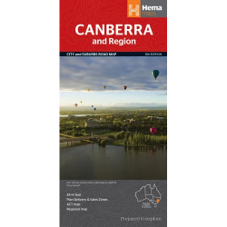 Canberra and Region Map 9781865006772