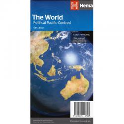 World Pacific Centred Folded Map Hema 13e