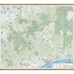 High Country Victoria Wall Map