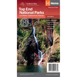 Top End National Parks Map 9321438001669