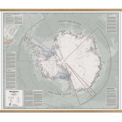 Antarctica Exeutive Wall Map