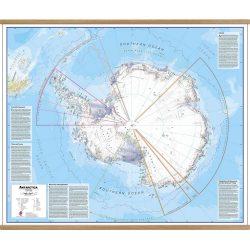Antarctica Political Wall Map