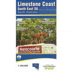 Limestone Coast Map 9780957906099