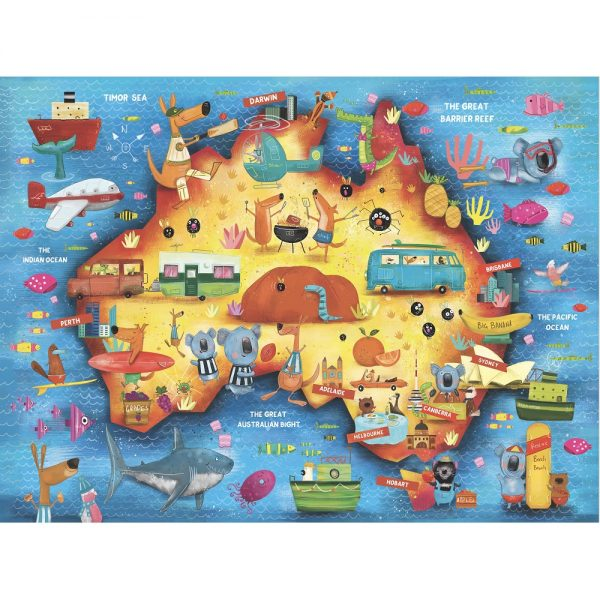 Down Under Illustrated Poster