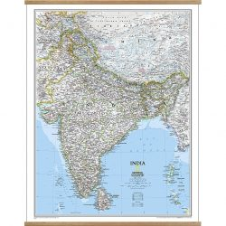 India Classic Wall Map 9781597750622