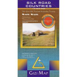 Silk Road Countries Map Gizi 9789632041384