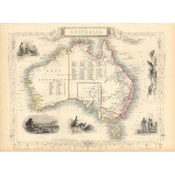Australia Tallis Map Print
