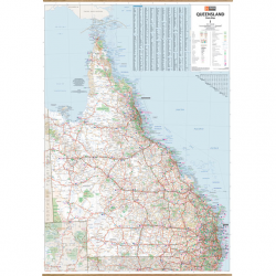 Queensland State Wall Map