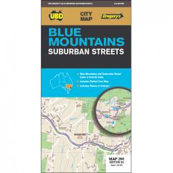 Blue Mountains Suburban Streets Map 20e 9780731931675