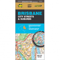 Brisbane City Streets Suburbs Map 462 9e
