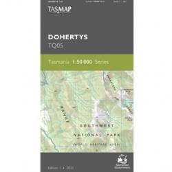 Dohertys TQ05 50k Topo Map