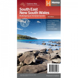 South East New South Wales Road Map 9781925625967