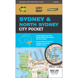 Sydney North Sydney City Pocket Map 260 23e
