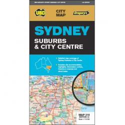 Sydney Suburbs City Centre Map 218 10e 9780731932511