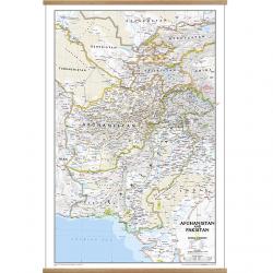 Afghanistan Pakistan Wall Map